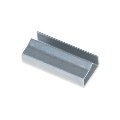 """""""Thornton's Metal Poly Strapping Seals, Open/Snap On, 1/2', Silver, 1000"""""""
