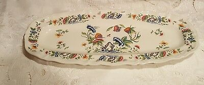 """Gorgeous Antique Rouen Decor French Faience Wall Platter Bisque tray 23"""" by 9.5"""""""