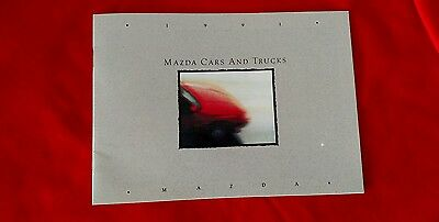Mazda Cars and Trucks 1991 New Car Sales Brochure introduces the new Miata