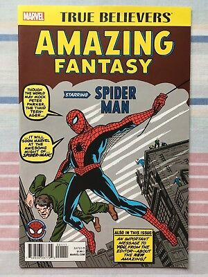Amazing Fantasy #15 True Believers Variant • NM • 1st Appearance of Spider-Man