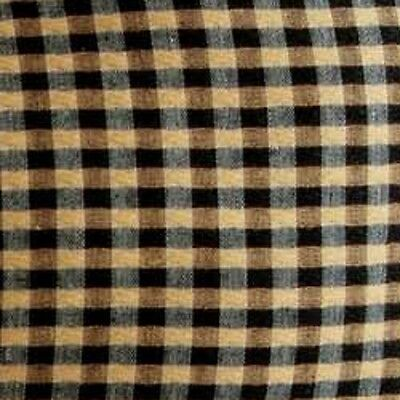 NEW Longaberger KHAKI CHECK Fabric LINER for the TALL KEY Baskets-RARE Large One