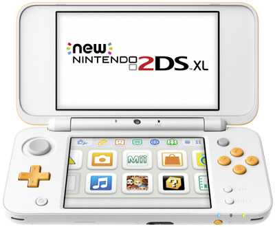 Videoconsolas Nintendo 2DS XL weiß color  orange naranja