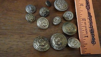 Vintage  Us Military Brass Button Lot Ww11 Us Navy Army  Bx 4 #35 Envelope 7