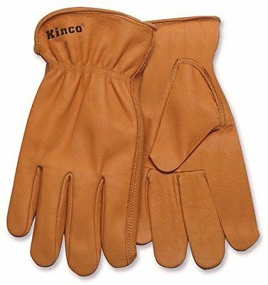 Kinco 81 Mens Work Gloves Buffalo Leather Tough Unlined Drivers Ranch Farm Yard