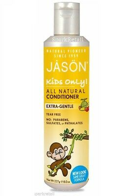 Jason KIDS ONLY CONDITIONER Organic All Natural Extra Gentle For Children 227g