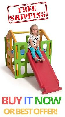 Kids Childrens New Playground Outdoor Combo Gym Slide Step Climbing Free Postage