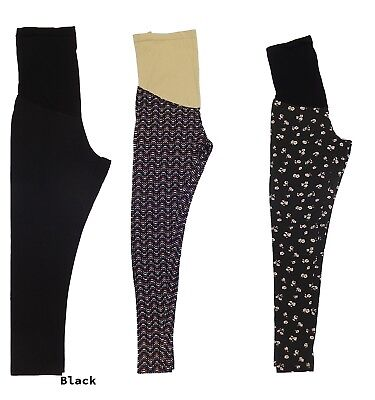LOT OF 3 SECRET FIT BELLY by MOTHERHOOD PREGNANCY MATERNITY COTTON LEGGINGS -M