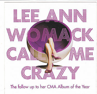 Lee Ann Womack STICKER 2008 Official Promo CALL ME CRAZY New Mint RARE Original