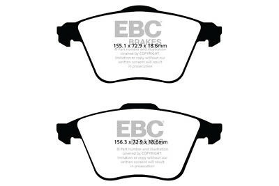 EBC Yellowstuff Front Brake Pads for Volvo V40 2.5 Turbo (2012 on)
