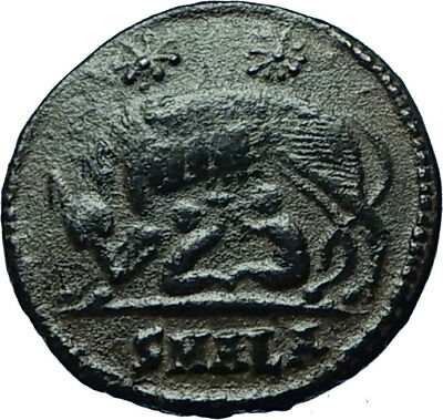 CONSTANTINE I the GREAT 330AD Romulus Remus WOLF Rome Ancient Roman Coin i66544