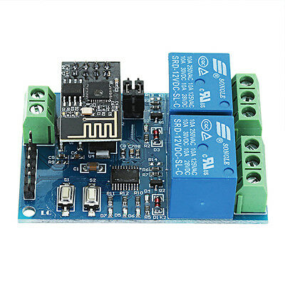 WIFI Relay Module ESP8266 IOT APP Remote Controller 2-Channel For Smart Home 12V