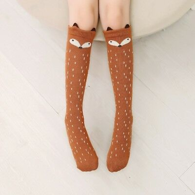 Baby Children Girls Toddler Fox Socks Soft Cotton Knee High Hosiery Tights Leg