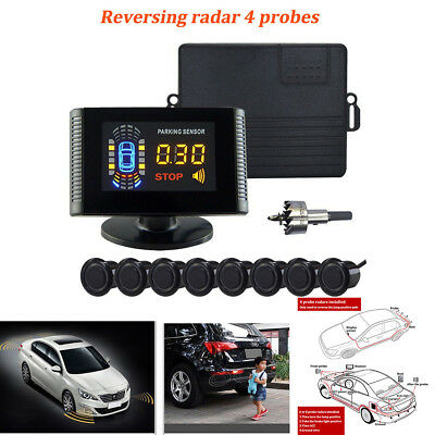 Car Parking Radar Detector With 8 Sensors LCD Display Reverse Backup System Kit