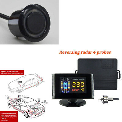 Car Parking Sensor LCD Display 8 Rear Front View Reverse Backup Radar System Kit