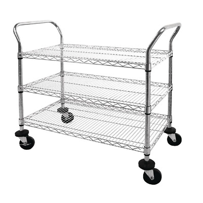 Vogue Chrome 2 and 3 Tier Wire Trolley Commercial Catering Serving