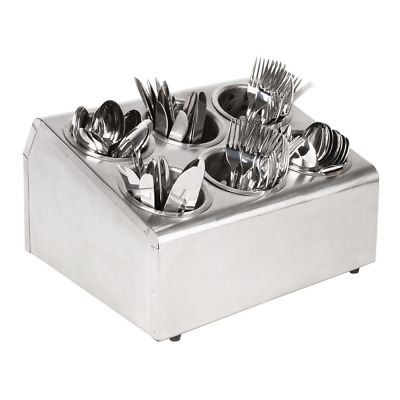 Cutlery Organiser Basket Holder 6 Hole S/S Trays Commercial Catering Restaurant