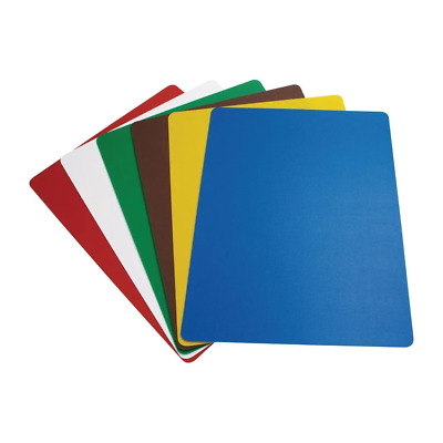 6X Flexible Colour Coded Cutting Chopping Mats Commercial Catering Kitchen