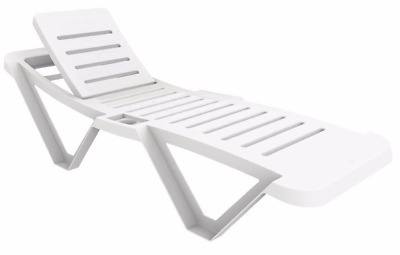 2x Resol Sun Lounger 6ft Commercial Hotel Garden Summer Spa Poolside Furniture