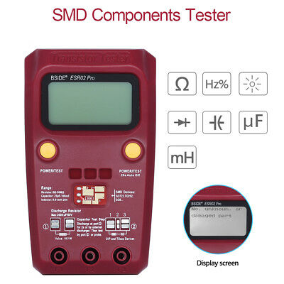 Digital Components Tester detection of Diodes Double Diodes Thyristors Handheld
