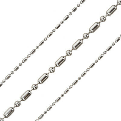 Silver Plated on Brass Ball And Bar FInished Chain & Connector Clasp 1m (G93/18)