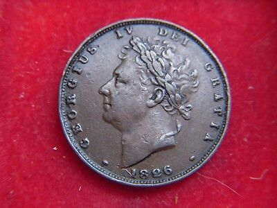 1826 George 1V  Farthing  From My Collection [Bb22]