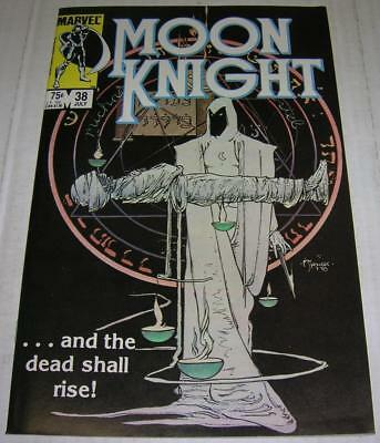 MOON KNIGHT #38 (Marvel Comics 1984) RARE LAST ISSUE (FN/VF) Mike Kaluta cover