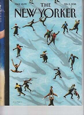Figured Skaters The New Yorker Magazine February 5 2018 No Label