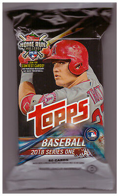 2018 Topps Series 1 Baseball, Jumbo Hobby Pack of 50 cards