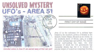 COVERSCAPE computer generated UFO's and Area 51 Mystery FDC