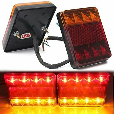 Truck Trailer LED Taillight Brake Stop Turn Signal Indicator Lights Lamp 12V
