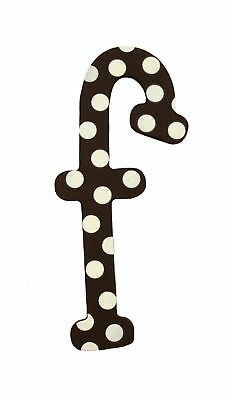 My Baby Sam Polka Dot Letter f, Brown/White