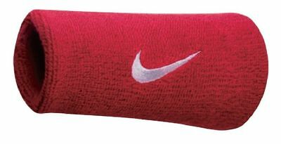 Nike Swoosh Wristbands Doublewide Double Wide 1 Pair 82816 Varsity Red & White
