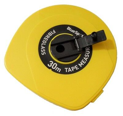 30M Surveyors Builders Tape Measure Fibreglass Measuring Tape Bluespot Freepost!