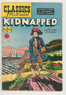 CLASSICS ILLUSTRATED #46 HRN 47 KIDNAPPED .1948. 1st ed-ROBERT WEBB ART FN+