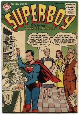 SUPERBOY #41-1955-Ma and Pa Kent cover-DC Golden-age