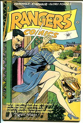 Rangers #28 1946-Fiction House-Good Girl Art-Lily Renee-Tiger Man-US Rangers-VG