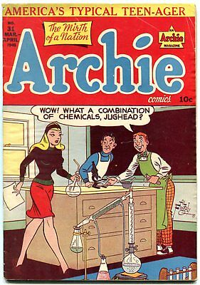 Archie #31 -1948-MLJ-Betty-Veronica-spicy cover-Golden-Age VG+