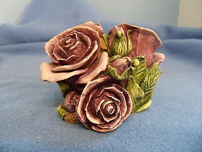 Double Violet  Rose      Harmony   Gardens   New In Box