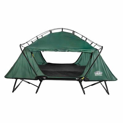 Kamp-Rite 2 Person Folding Off the Ground Camping Bed Double Tent Cot, Green
