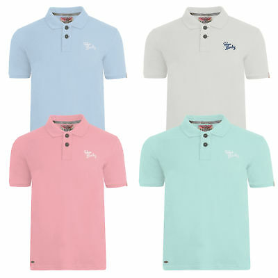 Mens Cotton Rich Short Sleeve Sports Top By Tokyo Laundry Polo Golf Top