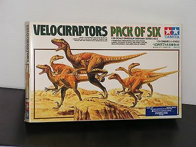 Tamiya 1/35 #60105 Velocirraptors Pack Of Six Open