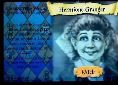 HARRY POTTER TRADING CARD GAME RARE FOIL CARD 9 of 116 HERMIONE GRANGER