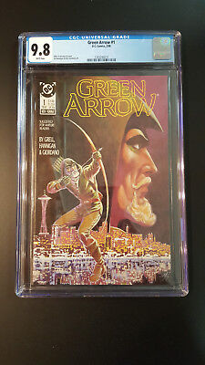 Green Arrow # 1 CGC 9.8 White Pages  1988 Ed Hannigan Dick Giordano Art