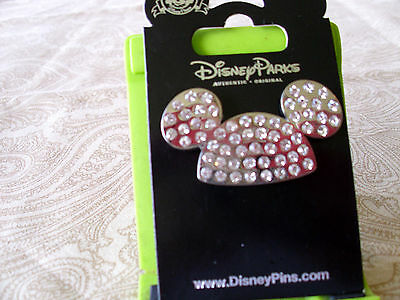 Disney * JEWELED MICKEY EARS HAT - PAVE * New on Card Icon Trading Pin