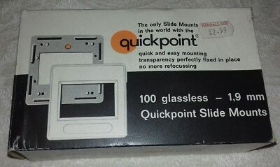 100 Glassless Quickpoint Slide Mounts - 24 X 36 - Brand New