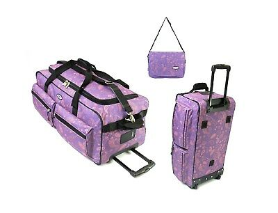 New Jeep Large Holdall Wheeled Travel Luggage Trolley Case Suitcase Duffel Bag