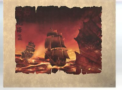 Pirates of the Caribbean Black Pearl 11x14-Color Embossed Lithograph
