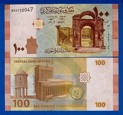 Syria P-113 100 Pounds 2009 Amphitheater Uncirculated Banknote