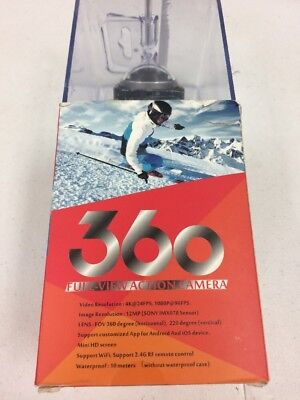 360 full view Action Camera 1080p 12mp w/ remote and mount
