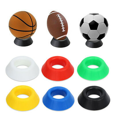 Ball Stand Basketball Football Soccer Rugby Plastic Display Holder Seat Useful